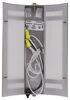 Gustafson RV Wall Sconce - Satin Nickel Metal Overlay - White Acrylic Shade Satin Nickel 277-000265