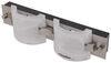 Gustafson RV Vanity Light - Satin Nickel - 2 Light - Frosted White Glass 13L x 2-1/2W Inch 277-000325