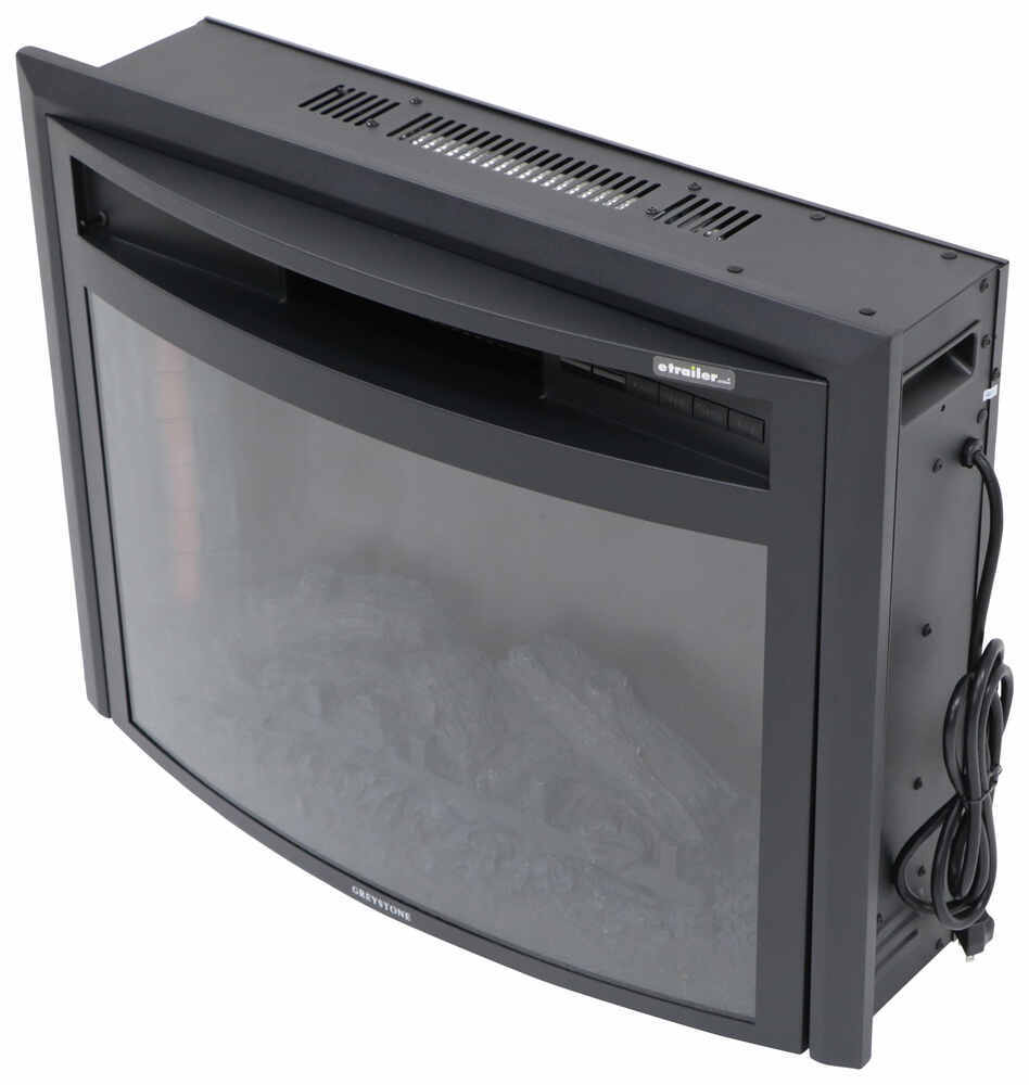 324-000066 - Curved Front Greystone RV Fireplaces