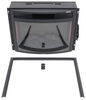 """Greystone 26"""" Curved Electric Fireplace with Logs - Recessed Mount - Black Logs 324-000066"""