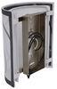 """Gustafson RV LED Sidewall Light w/ Shade - Satin Nickel - 8"""" x 7"""" 8L x 7W Inch 277-000455-478"""