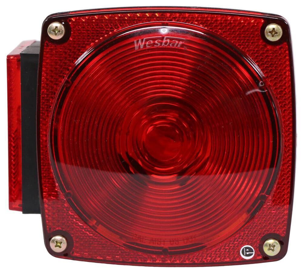 """Wesbar Combination Tail Light for Trailers Under 80"""" Wide - 7 Function - Driver Side Stop/Turn/Tail,Side Marker,Side Reflector,Rear Reflector,Lic"""