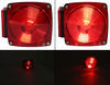 """Wesbar Combination Tail Light for Trailers Under 80"""" Wide - 7 Function - Driver Side Incandescent Light 2823283"""