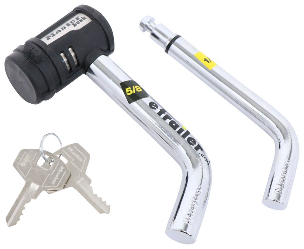 """Swivel Head Trailer Hitch Receiver Lock for 1-1/4"""" and 2"""" Trailer Hitches Bent Pin 2866DAT"""