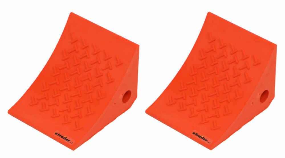 Wheel Chocks 288-02011-2 - Orange - etrailer