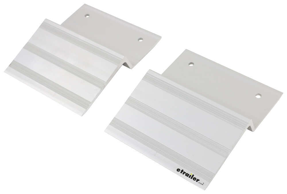 Aluminum Ramp Ends for 2x8 Boards - 1,500 lbs - Qty 2 For 2 x 8 Board 288-07400