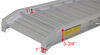 "Aluminum Car Hauler Ramp Set - 48"" x 14-1/2"" - 6,000 lbs - Qty 2 16 Inch Lift 288-07501"