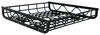 "Aluminum Roof Mounted Cargo Basket - 44"" Long x 39"" Wide x 7"" Deep - 150 lbs Square Bars,Round Bars,Factory Bars,Aero Bars,Elliptical B"