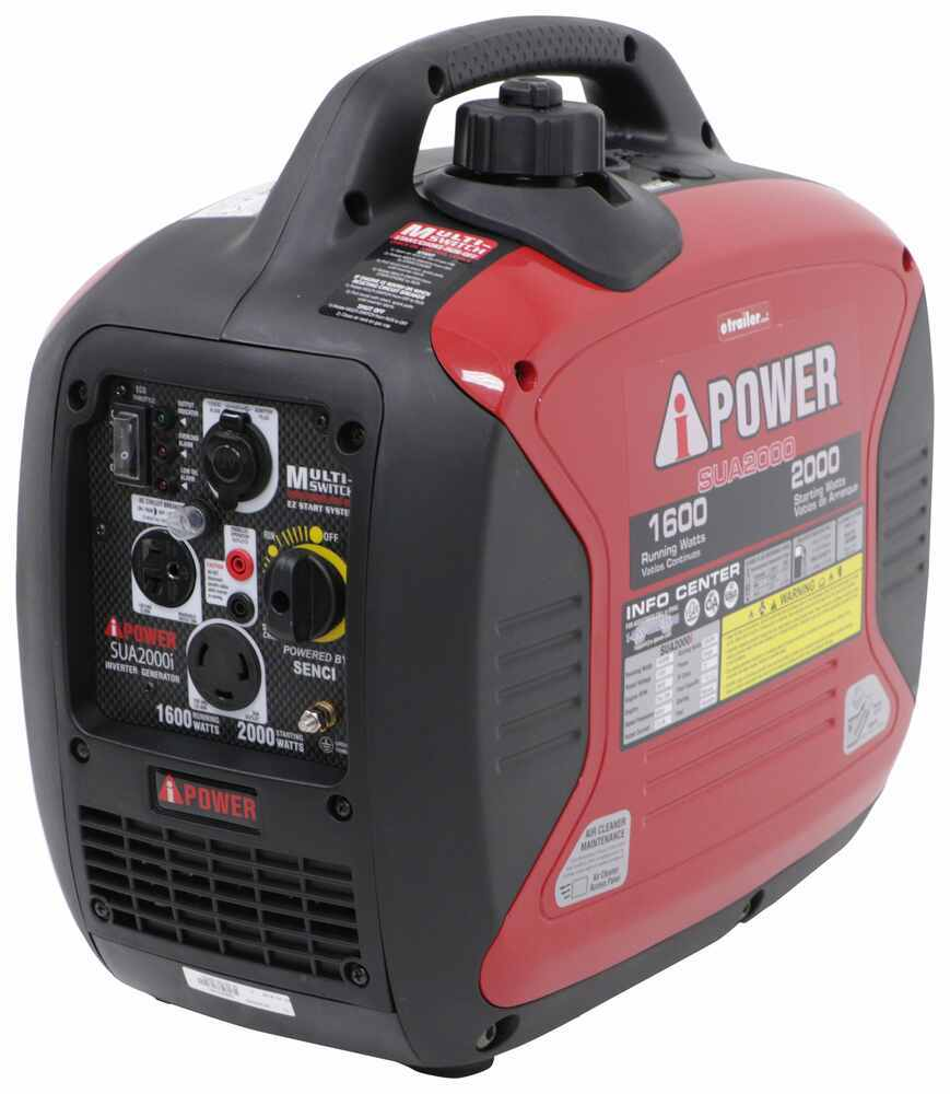 A-iPower 2,000-Watt Portable Inverter Generator - 1,600 Running Watts - Gas - Manual Start Gas 289-SUA2000I