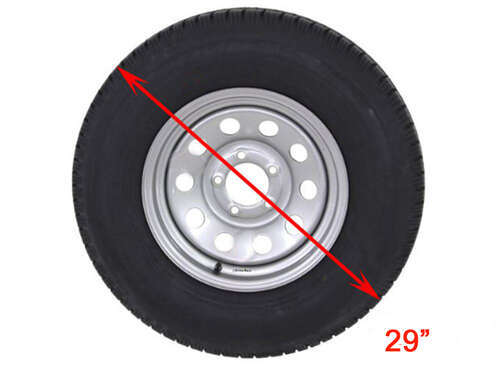 Fits 24 Diameter Wheel ADCO 9759 Silver Diamond Plated Steel Vinyl Spare Tire Cover N