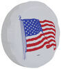 "Adco US Flag Spare Tire Cover - 31-1/4"" Diameter - Vinyl - White Spare Tire Cover 290-1783"