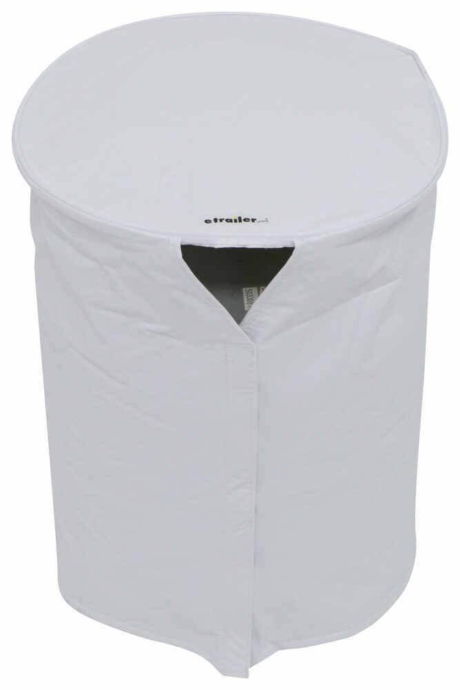 Adco RV Propane Tank Cover for Single 20-lb Tank - Vinyl - Polar White White 290-2111