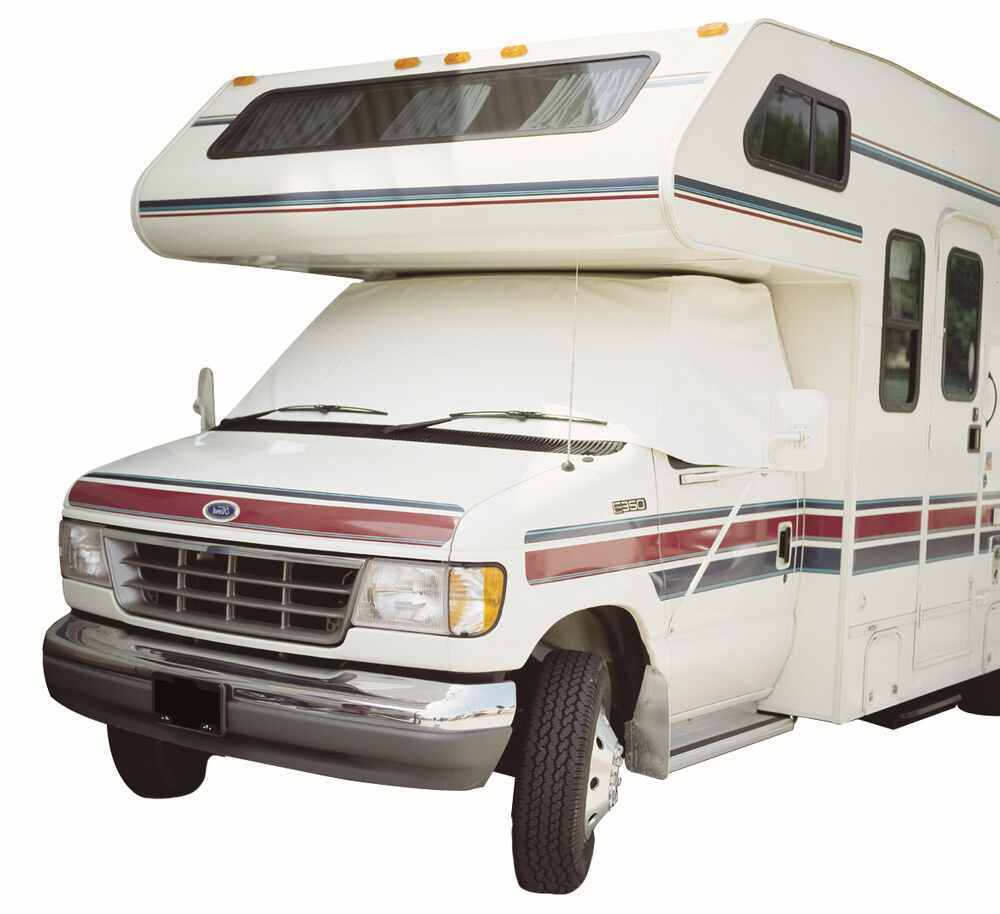 Adco 2409 Vinyl Windshield and Window Cover for Chevy RVs with Mirror Cutouts