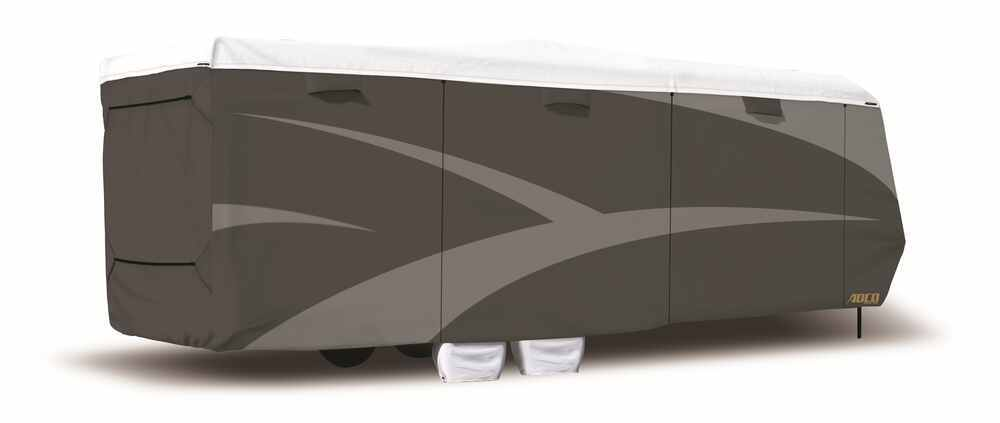 Adco Tyvek All-Climate + Wind RV Cover for Toy Hauler Travel Trailer - Up to 28' Long - Gray 24 Feet Long,25 Feet Long,26 Feet Long,27 Feet Long,2