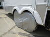 "Adco Tyre Gard RV Wheel Cover - Double Axle - 30"" to 32"" - Vinyl - Diamond Plate - Qty 1 Wheel Covers 290-3722"