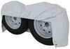 """Adco Tyre Gard RV Wheel Cover - Double Axle - 27"""" to 29"""" Diameter - Vinyl - White - Qty 1 27 Inch Tires,28 Inch Tires,29 Inch Tires 290-3923"""
