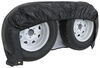 "Adco Tyre Gard RV Wheel Cover - Double Axle - 30"" to 32"" Diameter - Vinyl - Black - Qty 1 Black 290-3932"