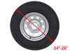 """Adco Ultra Tyre Gard RV Wheel Covers - Single Axle - 24"""" to 26"""" - Vinyl - White - Qty 2 Wheel Covers 290-3954"""