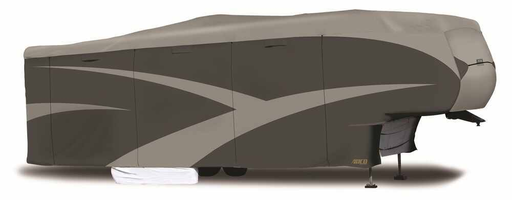 Adco SFS AquaShed RV Cover for 5th Wheel Toy Hauler - Up to 43-1/2' Long - Gray Better UV/Dust/Weather Protection 290-52258