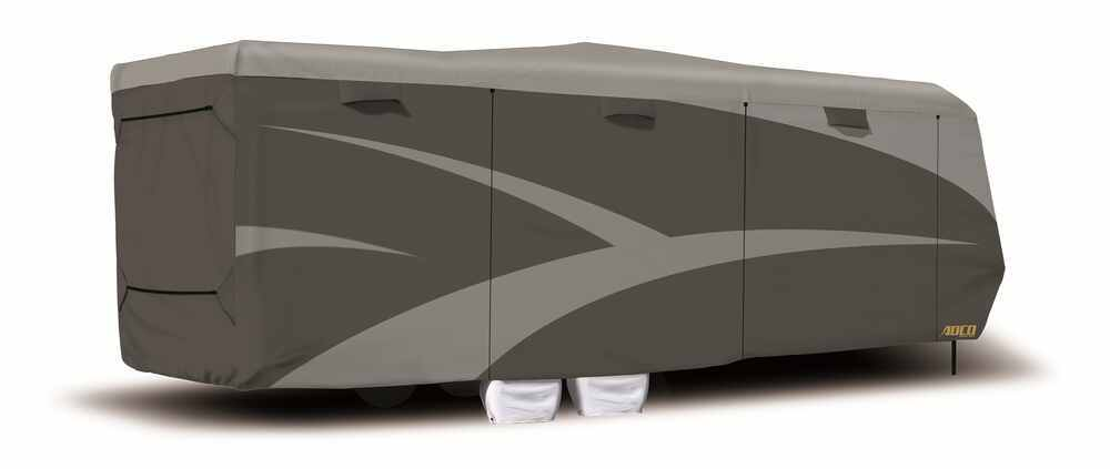 Adco SFS AquaShed RV Cover for Toy Hauler Travel Trailer - Up to 40' Long - Gray Better UV/Dust/Weather Protection 290-52277