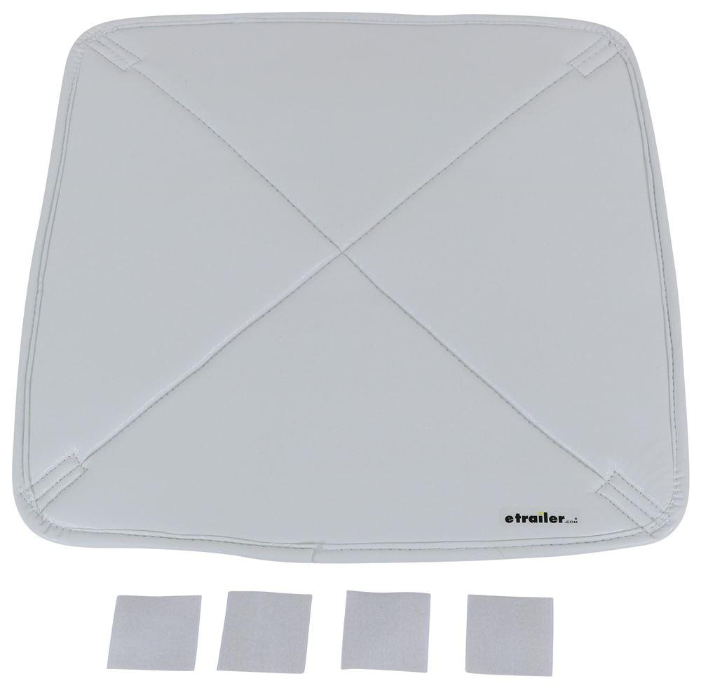 """Adco Deluxe RV Vent Insulator - Vinyl - White Over Silver - 18"""" x 18"""" Insulator 290-7172"""