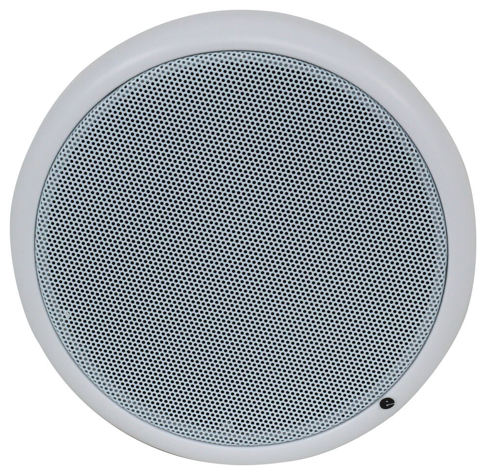 "Quest Indoor RV Speaker - Recessed Mount - 6-1/2"" Diameter - 50 Watts - White - Qty 1 50 Watt 292-100149"