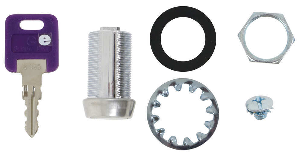 """Replacement Cam Lock Cylinder for RVs - Keyed Alike Option - Stainless Steel - 1-1/8"""" Long Lock Core Only 295-000004"""