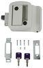 Global Link RV Entry Door Locking Latch Kit with Keyed Alike Option - White 295-000021