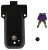 Global Link Vise Lock for Cam-Action Door Latch - Keyed Alike Option - Black 3-1/2 Inch Wide Lock 295-000024
