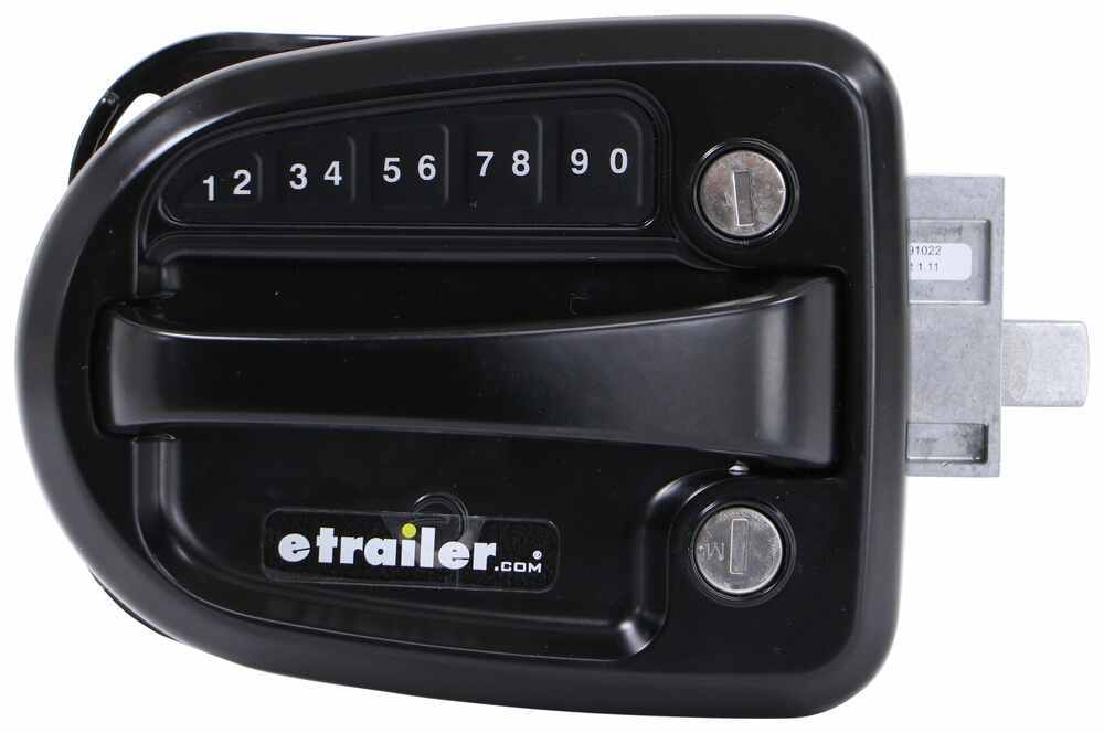 Global Link Ultra E Pro Electronic Lock for Travel Trailer w Keyed Alike Option - Black - Left Hand Entry Door 295-000185