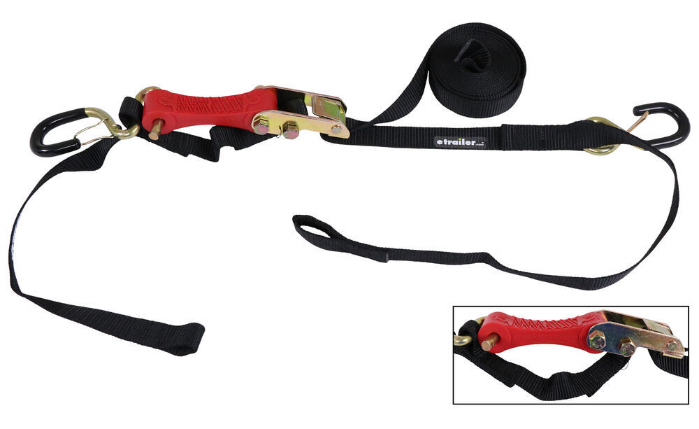 "ShockStrap Cam Buckle Tie-Down Strap w Shock Absorber - 1"" x 10' - 500 lbs - Qty 1 851 - 1200 lbs 297-10BR"