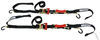 "ShockStrap Ratchet Tie-Down Straps w Shock Absorbers - 1-1/2"" x 7' - 1,000 lbs - Qty 2 Manual 297-7RSDB"