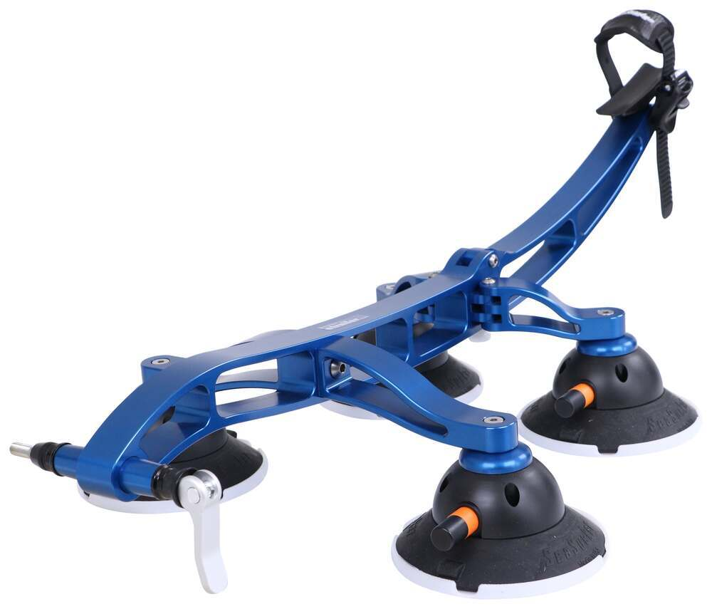 SeaSucker Komodo Trunk Bike Rack - Fork Mount - Vacuum Cup Mounted - Aqua Blue Suction Cups 298-BK1910-AB