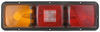 Bargman Recessed, Triple, Long Tail Light w/ Backup - 84 Series - Red and Amber - Horizontal 18L x 5-1/2W Inch 30-84-104