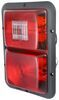 Bargman Double Tail Light - 5 Function - Incandescent - Rectangle - Black Base - Red and Clear Lens Rectangle 30-84-508