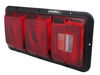 Bargman Triple Tail Light - 5 Function - Incandescent - Rectangle - Black Base - Red and Clear Lens Non-Submersible Lights 30-84-509