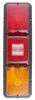 Bargman Recessed, Triple, Long Tail Light w/ Backup - 84 Series - Red and Amber - Vertical Incandescent Light 30-84-554