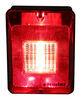 Bargman Trailer Backup Light w/ Reflector - Incandescent - Rectangle - Black Base - Red/Clear Lens Rectangle 30-86-103