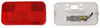 Bargman Trailer Tail Light - 4 Function - Incandescent - Rectangle - White Base - Red Lens Surface Mount 30-92-001