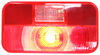 Bargman Trailer Tail Light - 5 Function - Incandescent - Rectangle - White Base - Red/Clear Lens Surface Mount 30-92-002