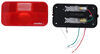 Bargman Trailer Tail Light - 5 Function - Incandescent - Rectangle - Black Base - Red/Clear Lens Stop/Turn/Tail/Backup,Rear Reflector 30-92-107