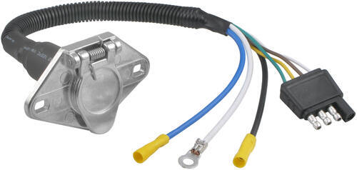 Tow Ready 20320 4-Flat to 6-Way Round Pin Connector Adapter