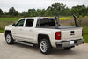 pace edwards tonneau covers retractable - manual opens at tailgate ultragroove cover w ladder rack aluminum and vinyl matte black