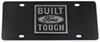 Ebony Finished Stainless Steel License Plate Built Ford Tough Chrome Ford 312800