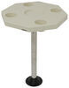 "Octagonal Boat Table - Surface Mount - 19-3/8"" Diameter - High-Impact Plastic - Ivory Octagonal 315-DSI-KS"