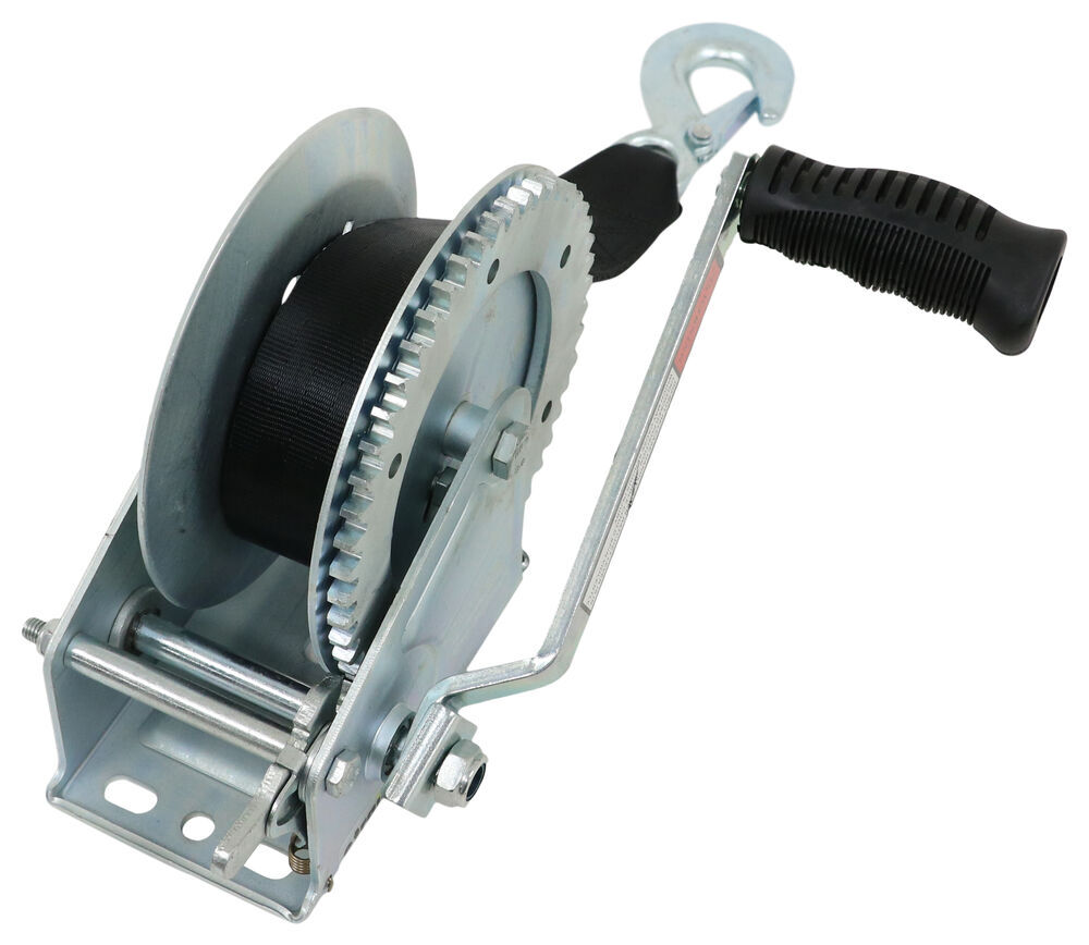 Single-Speed Boat Trailer Winch with 20' Strap - 1,800 lbs Single Speed Winch 315-W1800D