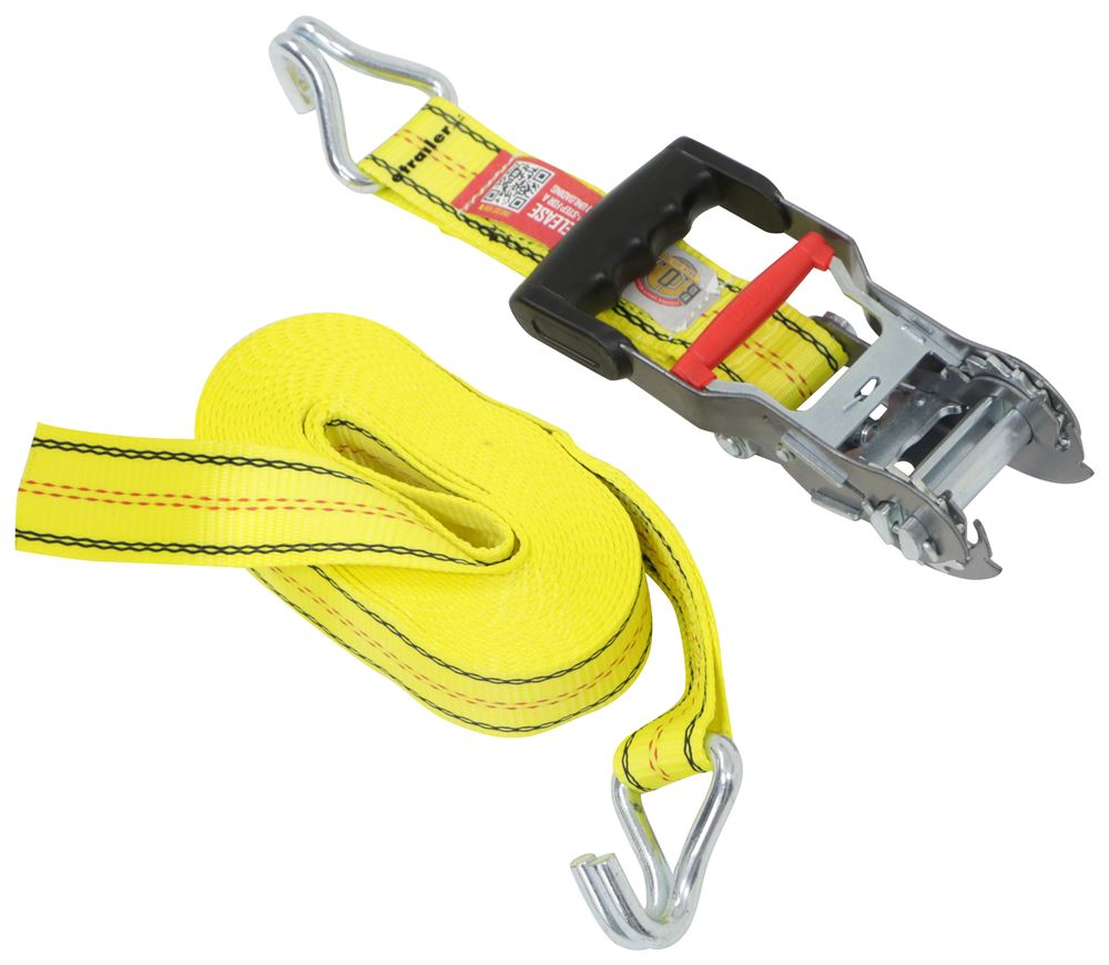 PROGRIP 310001 Heavy Duty Ratchet Tie Down with Step Release and Webbing Strap J-Hooks 27 x 2