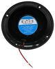 way interglobal marine speakers single speaker w/ led lights - surface mount 5-1/2 inch diameter 35 watts glossy black