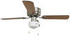 """120V RV Ceiling Fan and Light - 3 Speed - 42"""" Diameter - Brushed Nickel - Black/Oak 120V 324-000033"""