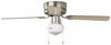 "120V RV Ceiling Fan and Light - 3 Speed - 42"" Diameter - Brushed Nickel - Cherry/Maple No Wall Switch 324-000034"